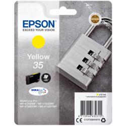 Tinteiro Epson 35 Amarelo Original Série Cadeado (C13T35844010)