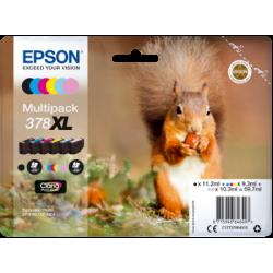 Conjunto 6 Tinteiros Epson 378 XL Originais Série Esquilo (C13T37984010)