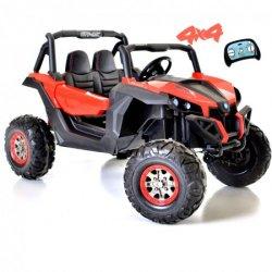 Carro Elétrico Buggy UTV-MX 4X4 Bateria 24v c/ Comando e Bluetooth Vermelho