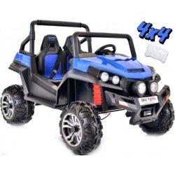 Carro Elétrico Buggy V-Twin 4x4 Bateria 12v c/ Comando e Bluetooth Azul