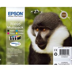 Conjunto 4 Tinteiros Epson T0895 Original Série Macaco (C13T08954020)